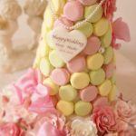 【結婚式の最新トレンド】ウェディングケーキは《幸福のマカロンタワー》が人気♡のサムネイル画像