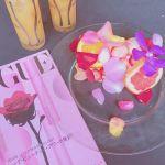 花びらとイチゴに包まれた♡【天使のシフォンケーキ】が気になる!のサムネイル画像