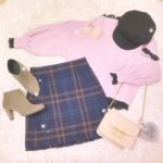 冬が近づくほど愛しくなる♡GUの【チェックミニスカート】特集!のサムネイル画像